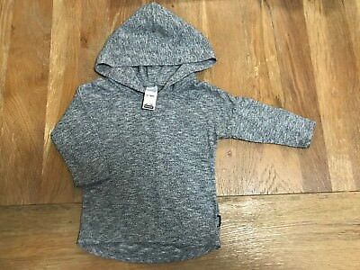 Bonds Light Weight Hoodie Baby Grey Size 0 Excellent Condition