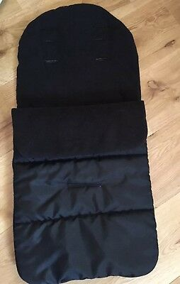 Black Cosytoes Footmuff Pushchair Liner Water Resistant, Fleece Lined