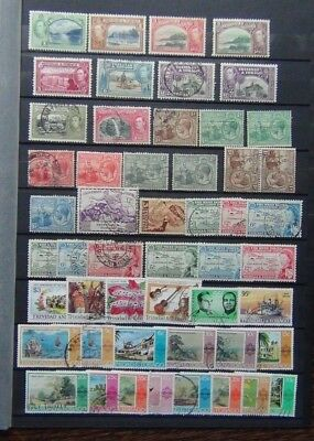 Trinidad & Tobago 1922 values to 3d 1938 values to 60c 1958 Caribbean MM or Used