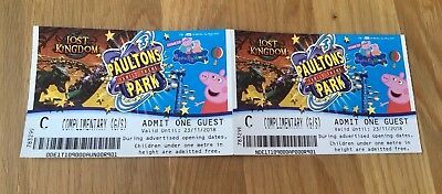 2 Tickets Voucher For Paultons Park Peppa Pig World. Tvo £68.50