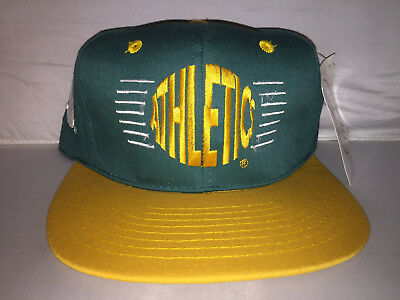 7f88323a765 Vtg Oakland A s Athletics Snapback hat cap 90s Nwt MLB Annco deadstock bash  bros