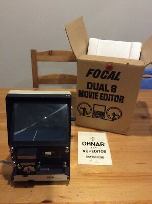 Vintage Focal Ohnar Dual 8 8mm Movie Editor; Made In Japan; With Box