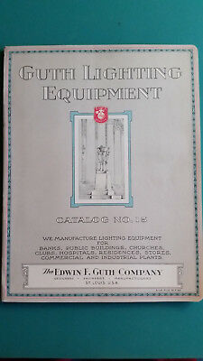 Vintage Edwin F. Guth Lighting Equipment Catalog 15 with Prices 1927 95 Pages