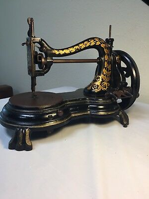 Antique Fiddle Base Jones Hand Sewing Machine #964