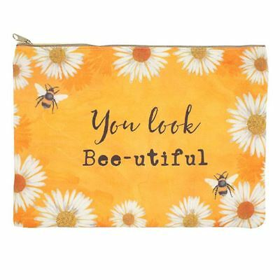 You Look Beautiful Make Up Bag - Bee Design Make Up Bag - Make Up Pouch - Bees
