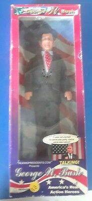 President GEORGE W BUSH ~ Talking Presidential Action Figure Doll - original box