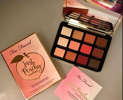 2018 Too Faced 12 color Just Peachy Mattes Velvet Matte Eyeshadow Palette DF15