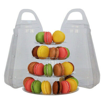 Macaron Cake Cupcake Stand with Box, Wedding Event Party Display Tower Plate