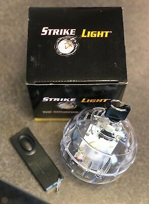 Lighted LED Strike Light Throw Light Tactical Ball w/ Remote - Firefighter / EMS