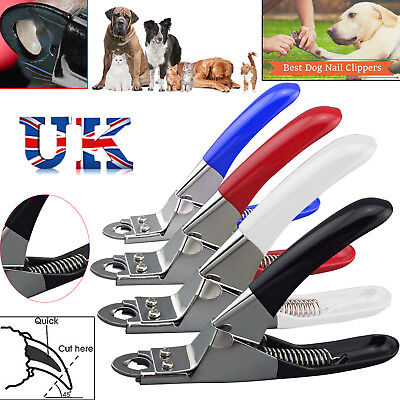Stainless Steel Dog Cat Pet Nail Toe Claw Clippers Trimmers Scissors Cutter UKM