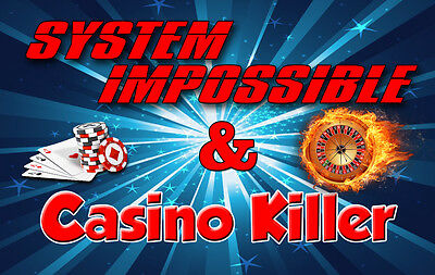 """Roulette Systems Package 2x - """"Casino Killer"""" & """"System Impossible"""" (100% WIN)"""