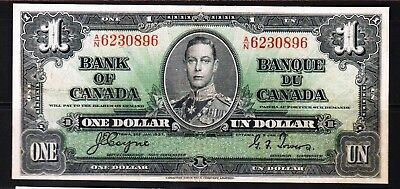 "Canada-1937 Bank of Canada 1 Dollar  P58e/BC-21d VF+++ ""King George VI"""
