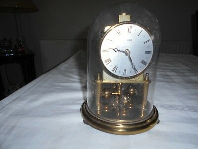 A Vintage Clock In Plastic Dome For Spares And Repairs Kundo Make