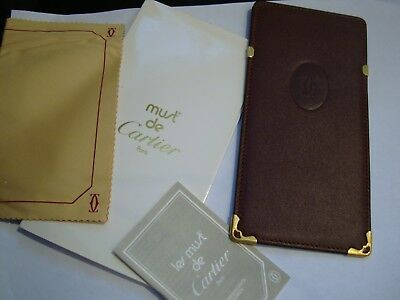 Cartier Soft Leather Eyeglass-Sunglass Case. NEW with folder & Papers