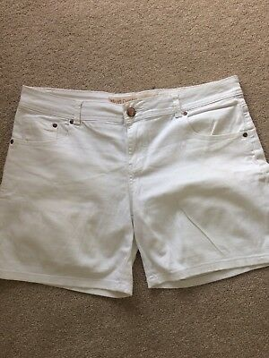 ladies white denim shorts size 14 Next