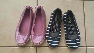 gymboree pink glitter girl shoes lot size 2