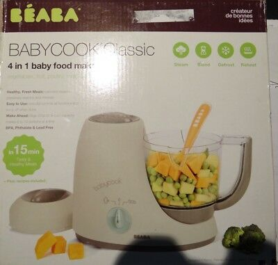 Beaba BABYCOOK Classic   4 in 1 baby food maker in 15 min.