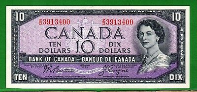 Canada - 1954 Bank of Canada 10 Dollar note P79a/BC-40a  XF+/aUNC Condition QEll