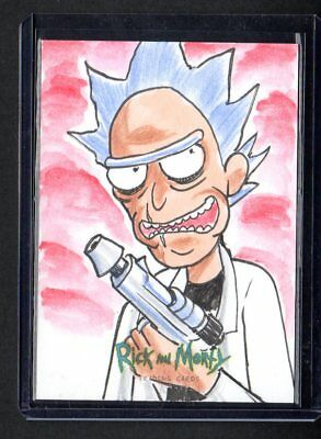 2018 Cryptozoic Rick and Morty Rick Sketch Card 1/1 Drawn By Eminy Lais