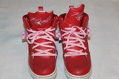 Nike Air Jordan Flight Premium Red Pink Sneaker Shoes 547769-605 Sz 6Y V-Day Ed.