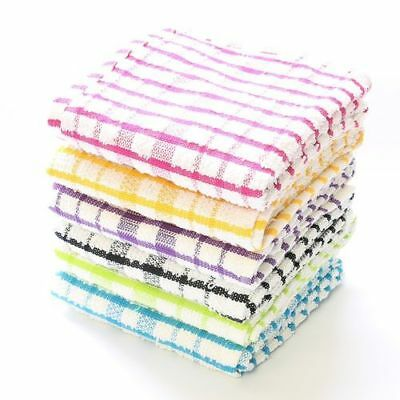 100/% Cotton Jumbo Terry Tea Towels White Multicolour Large Super Absorbent Gift