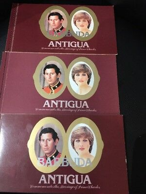 Antigua (Barbuda) Commemorates The Marriage Of Prince Charles Stamps X 3 Job Lot