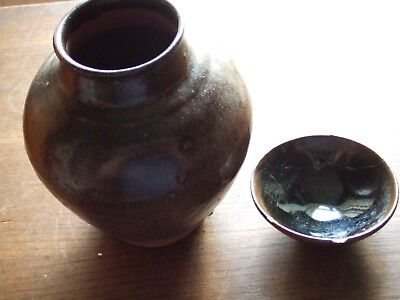 China.  Sung Dynasty.   Brown Tea Dust Glazed Pottery Vase,   Superb Condition.