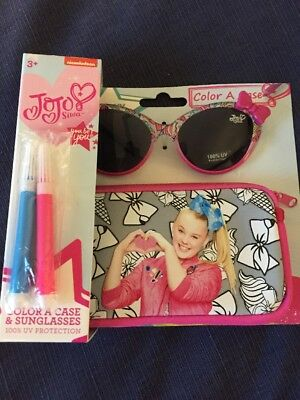 Jojo Siwa Pair Of Sunglasses With Case And Pens Bnwt