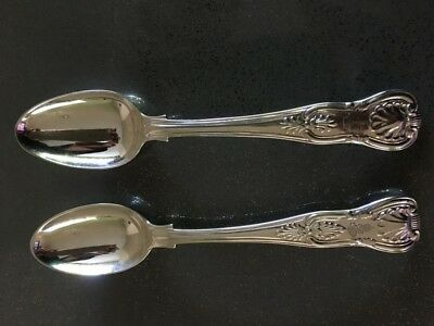 Kings pattern antique English sterling silver teaspoons 1834 & 1874
