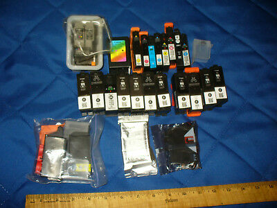 Lot 26 Mixed Printer Ink Cartridges Mostly Used Lexmark 1 XL105 Black New, Canon