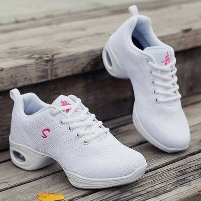 Women's Dance Shoes Jazz Hip Hop Sneakers Knit Gymnastics Breathable Anti-Skid