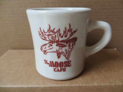 """Rare Vintage """"the Moose Cafe"""" Northland China Coffee Cup Mug-Great Graphics"""