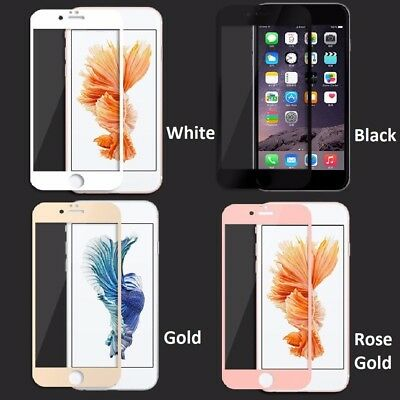 5D Tempered Glass Full Screen Protector Cover for iPhone 6 6s 7 8 & Plus Models