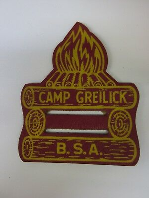 B.S.A.  CAMP GREILICK Leather Neckerchief slide