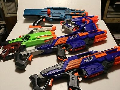 Nerf gun lot of 6 guns rapidstrike cs-18 and others