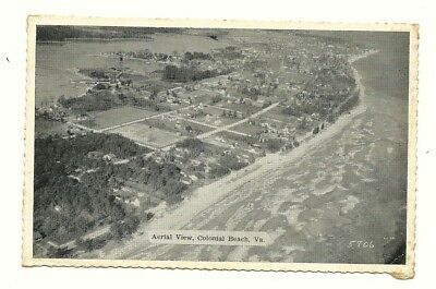 Old Colonial Beach Virginia Airplane Aerial View - Caruthers & Coakley Card