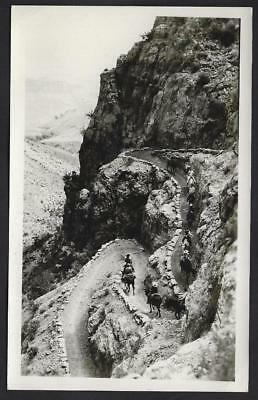 Real Photo Corkscrew on Bright Angel Trail Grand Canyon RPPC 1950