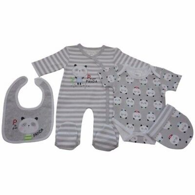 Baby clothing/layette gift set, 4 piece, 3-6 months, neutral