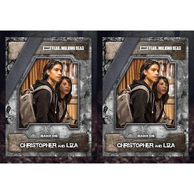 2x FEAR NIGHTMARE MARATHON CHRISTOPHER & LIZA Walking Dead Card Trader Digital