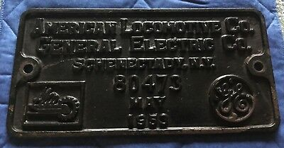 American Locomotive ALCO GE Railroad Builders Plate - 80473 - May 1953