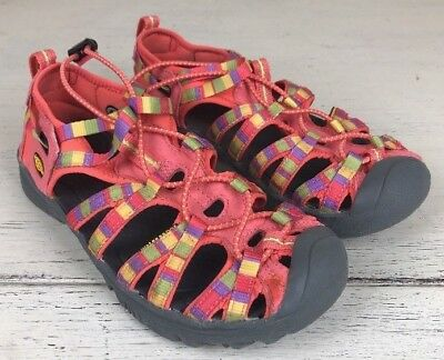 KEEN Whisper Kids Water Sport Sandal Shoes Youth Sz 4 Girls 1008582 Coral Pink