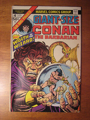 Giant-Size Conan The Barbarian #4, 1975 (Vf/vf+) Gil Kane Art!