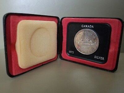 1972 Silver Canadian Dollar Proof (Toned w/Orig Display Box). CANADA.