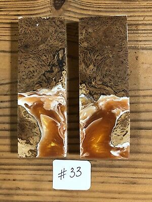 Burl Wood And Resin Knife Scales! Hardwood Knife Scales!