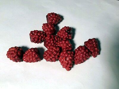 Longaberger One Dozen (12) Faux Raspberries for J W Mini/Miniature Berry Basket