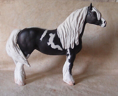 Breyer Cm~Gypsy Vanner From Clyesdale Mare~Ooak By C Ingram~Fun Auction~