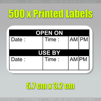 500 x Use By Food Storage Labels Day Dots Label Best Before Date Adhesive Label