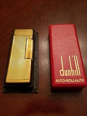 "Vintage ""AUTO ROLLALITE"" gold dunhill lighter"