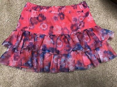 Justice girls 14 skorts pink purple floral back to school free shipping
