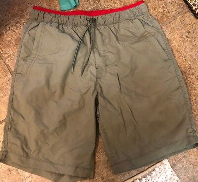 Mens Board Shorts Small Pacific Trail Olive Red Swim Fast Dry Free Shipping NEW
